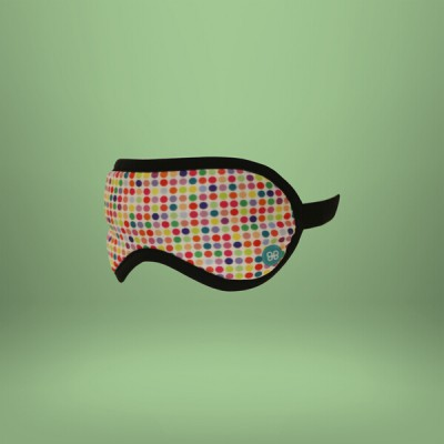 Accessoires de voyage - Masque de Sommeil Colorful Dots White
