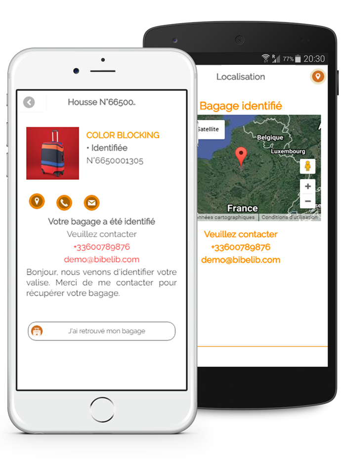 L'application mobile MyBibelib permet d'identifier et de géolocaliser votre bagage